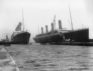 Belfast docks_ RMS Olympic & RMS Titanic