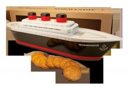 Boite paquebot Normandie galettes St michel